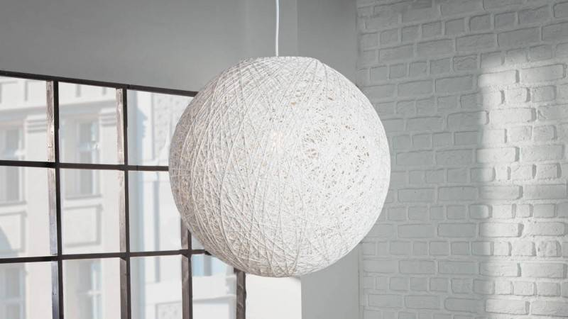 gdegdesign Lustre suspension boule ronde chanvre blanc - Berea