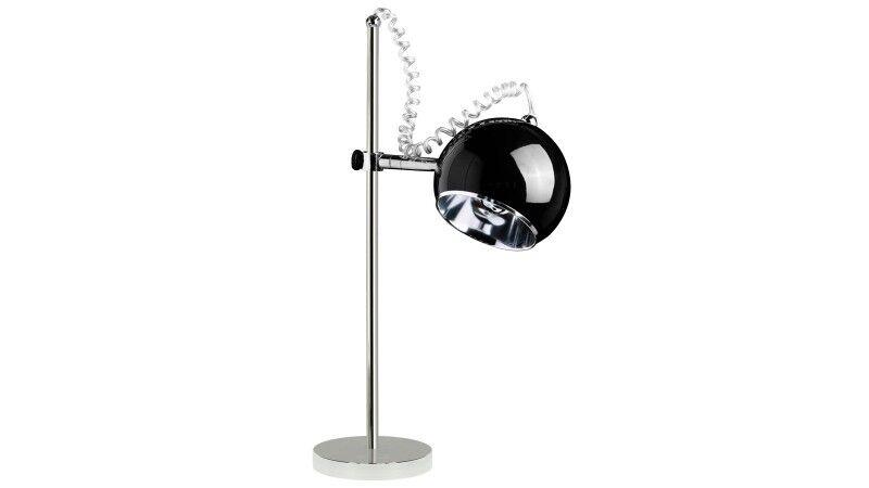 gdegdesign Lampe à poser noire chrome - Keops JR