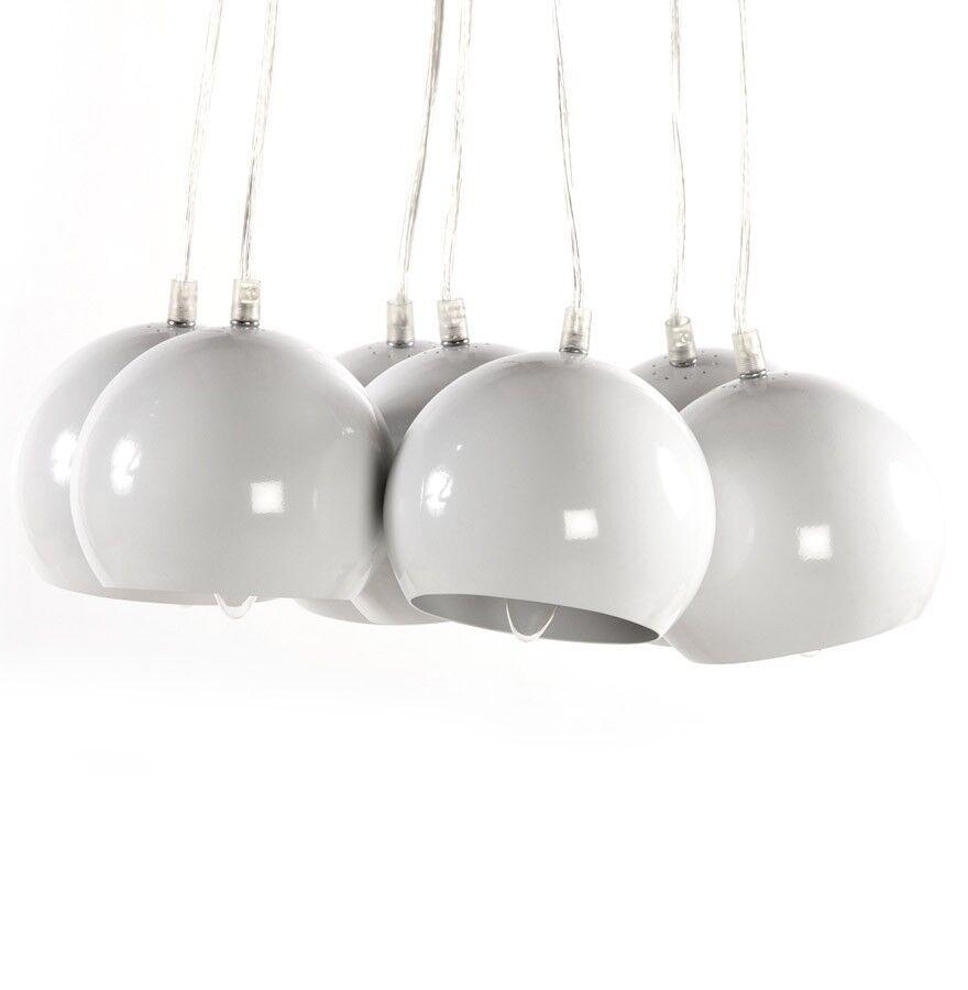 gdegdesign Lustre suspension blanche 7 boules - Bilbao
