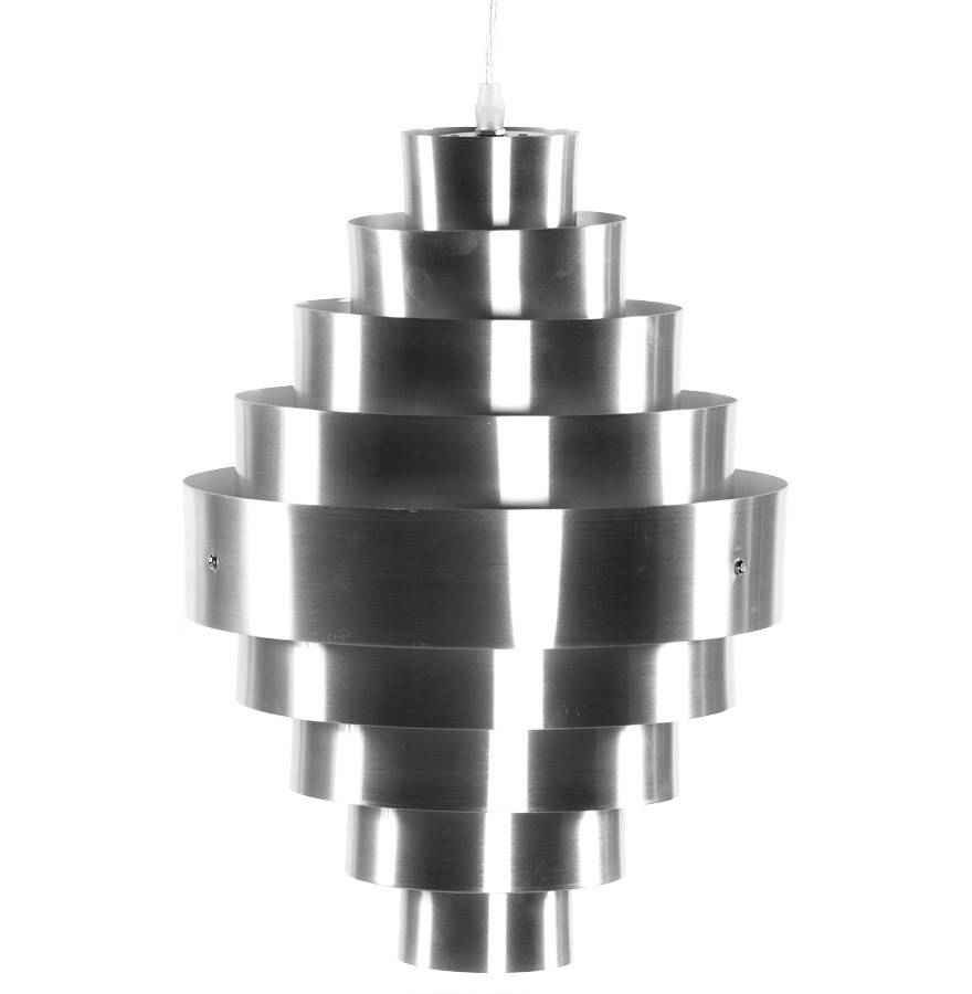gdegdesign Lustre suspension design aluminium brossé - Maïa