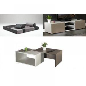 Inside75 Pack studio 1,  enssemble canapé, table basse et meuble télé - Publicité