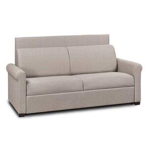 ITALIAN SPIRIT Canapé lit 3 places EXPRESS LATTES RENATONISI tête de lit intégrée velours  beige - Publicité