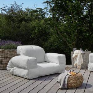 Inside75 Fauteuil extérieur transformable HIPPO OUT couleur blanc - Publicité