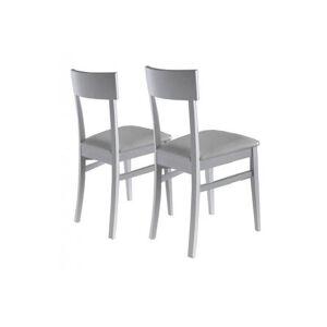 LA SEGGIOLA Lot de 2 chaises NEW AGE blanches - Publicité