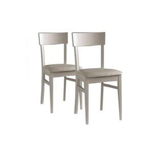 LA SEGGIOLA Lot de 2 chaises NEW AGE sables - Publicité