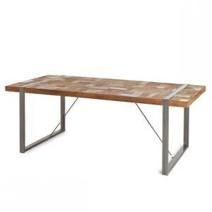 Inside75 Table repas HÉRITAGE teck massif ancien 10 couverts 180cm - Publicité