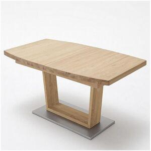 Inside75 Table extensible CATANE 180 x 100 cm chêne massif - Publicité