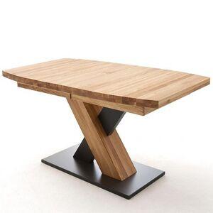Inside75 Table extensible MELERO 140 x 90 cm chêne sauvage huilé massif - Publicité