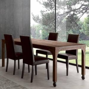 LA SEGGIOLA Table repas INDUSTRIAL VINTAGE 200cm en sapin vieilli - Publicité