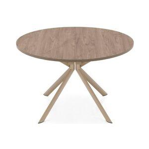 Inside75 Table de repas extensible ronde TULIPE QUATTRO 120cm en bois déco nougat - Publicité