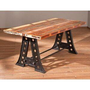 Inside75 Table repas unique AMAR en bois de manguier recycle et acier - Publicité