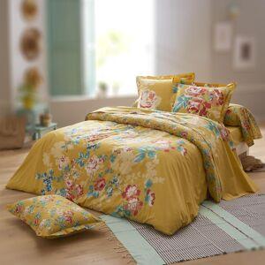 Linnea Parure de lit 240x220 cm 100% coton OBSESSION jaune Safran 3 pièces avec impression fixé-lavé - Publicité