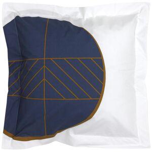 Linnea Taie d'oreiller 65x65 cm Percale 100% coton ROMEO bleu Baltique - Publicité