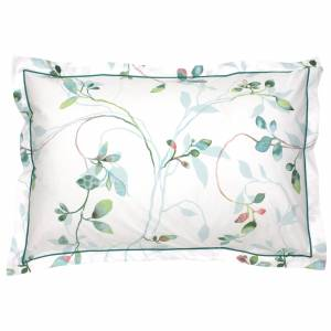 Linnea Taie d'oreiller 70x50 cm Percale 100% coton FLANER vert Jade - Publicité