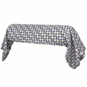 Linnea Taie de traversin 200x43 cm Percale 100% coton ROMEO bleu Baltique - Publicité