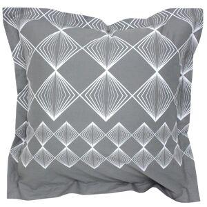 Linnea Taie d'oreiller 65x65 cm 100% coton FOREVER GRIS gris foncé - Publicité