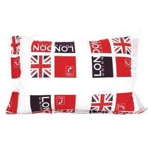Linnea Taie d'oreiller 70x50 cm 100% coton LONDON Union Jack - Publicité