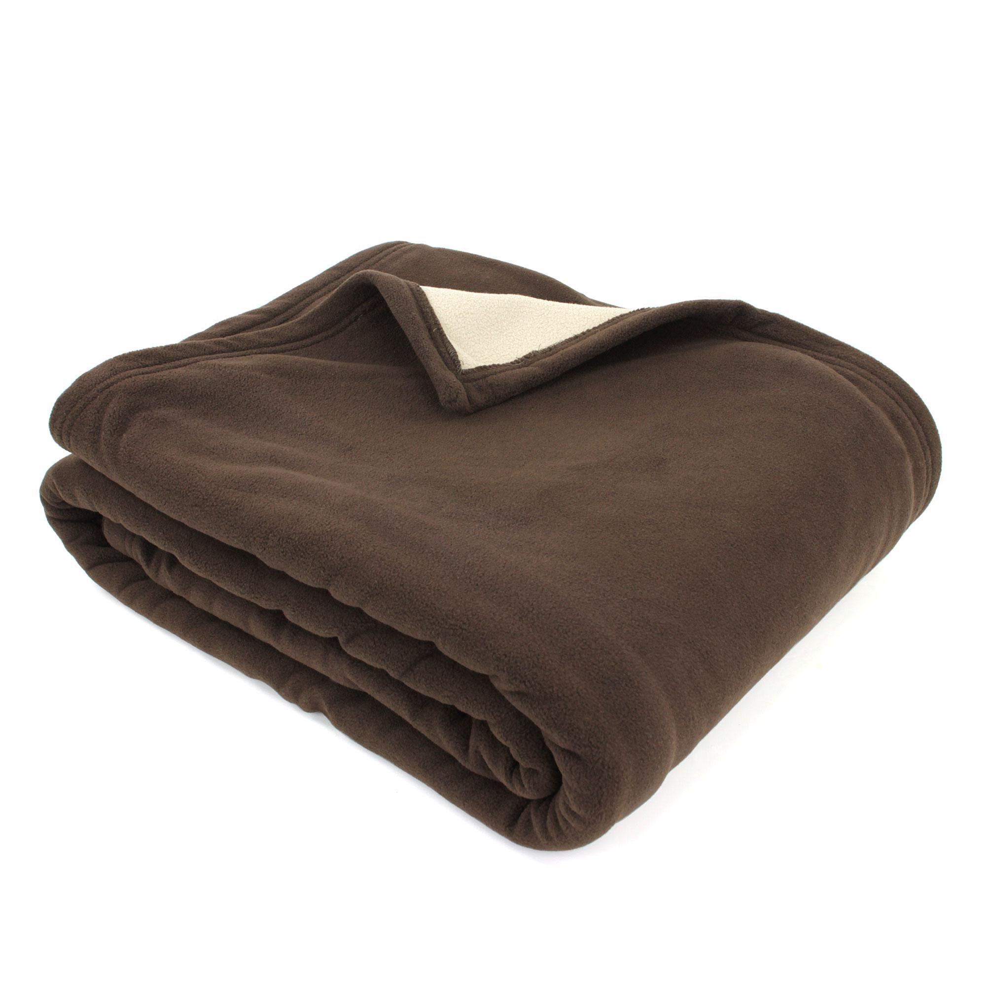Linnea Couverture polaire luxe 220x240 cm 100% polyester 430 g/m2 NARVIK Marron Chocolat
