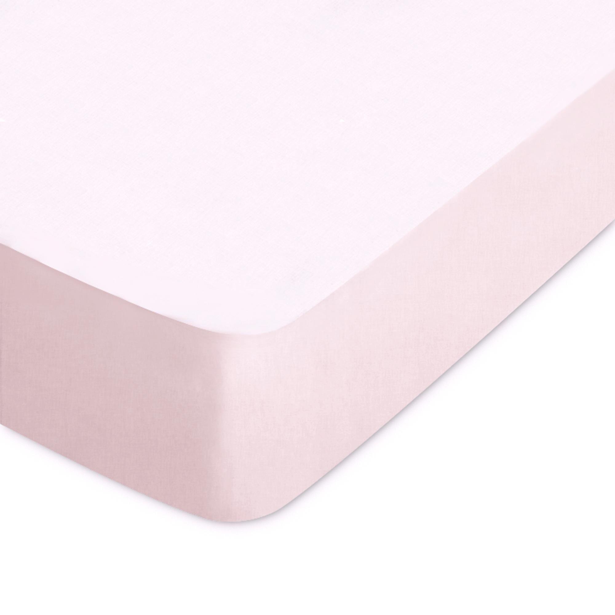 Linnea Drap housse uni 140x190 cm bonnet 40 cm 100% coton ALTO rose Rosa
