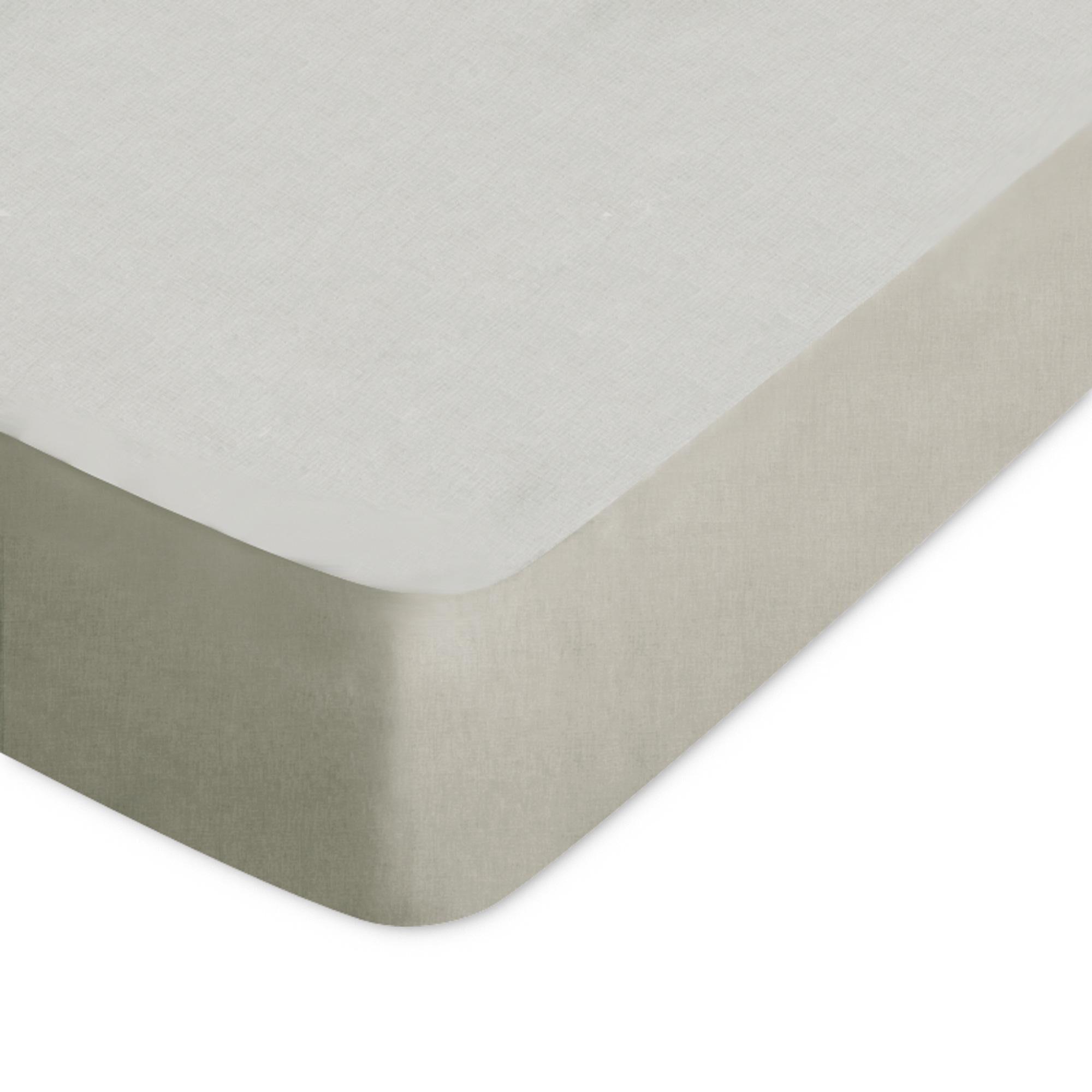 Linnea Drap housse uni 60x120 cm 100% coton ALTO Chamois