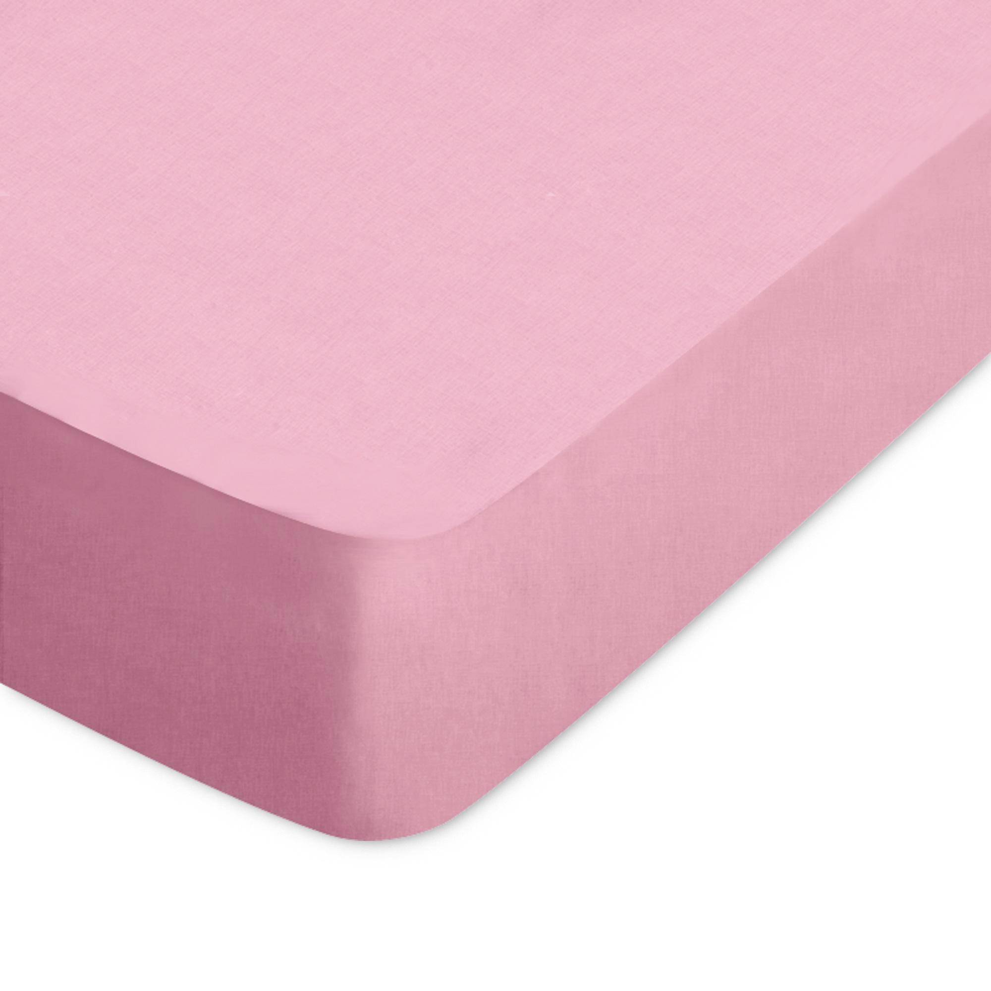 Linnea Drap housse uni 60x120 cm 100% coton ALTO Macaron