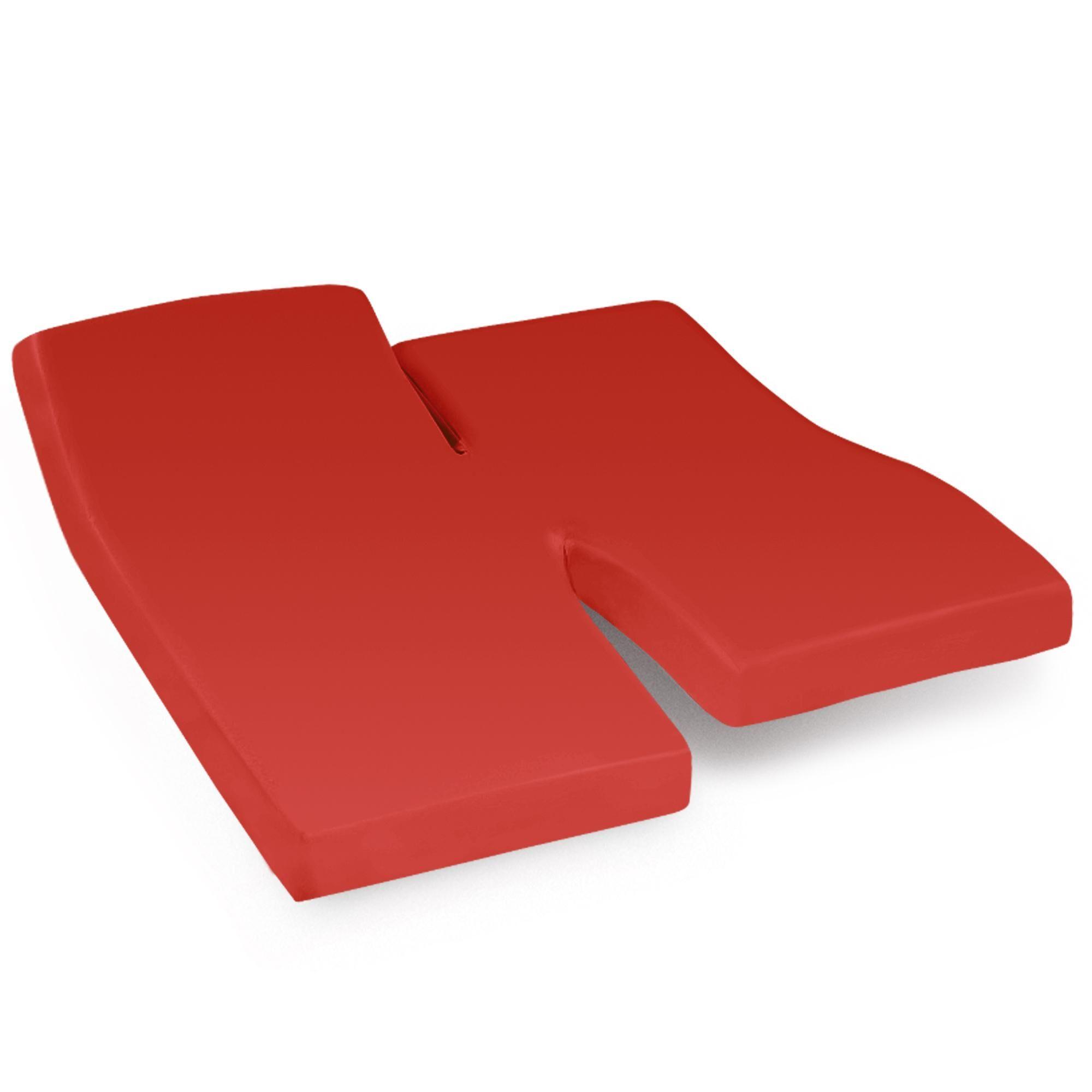 Linnea Drap housse relaxation uni 2x90x200 cm 100% coton ALTO orange Baie de Goji TPR Tête et pied relevable