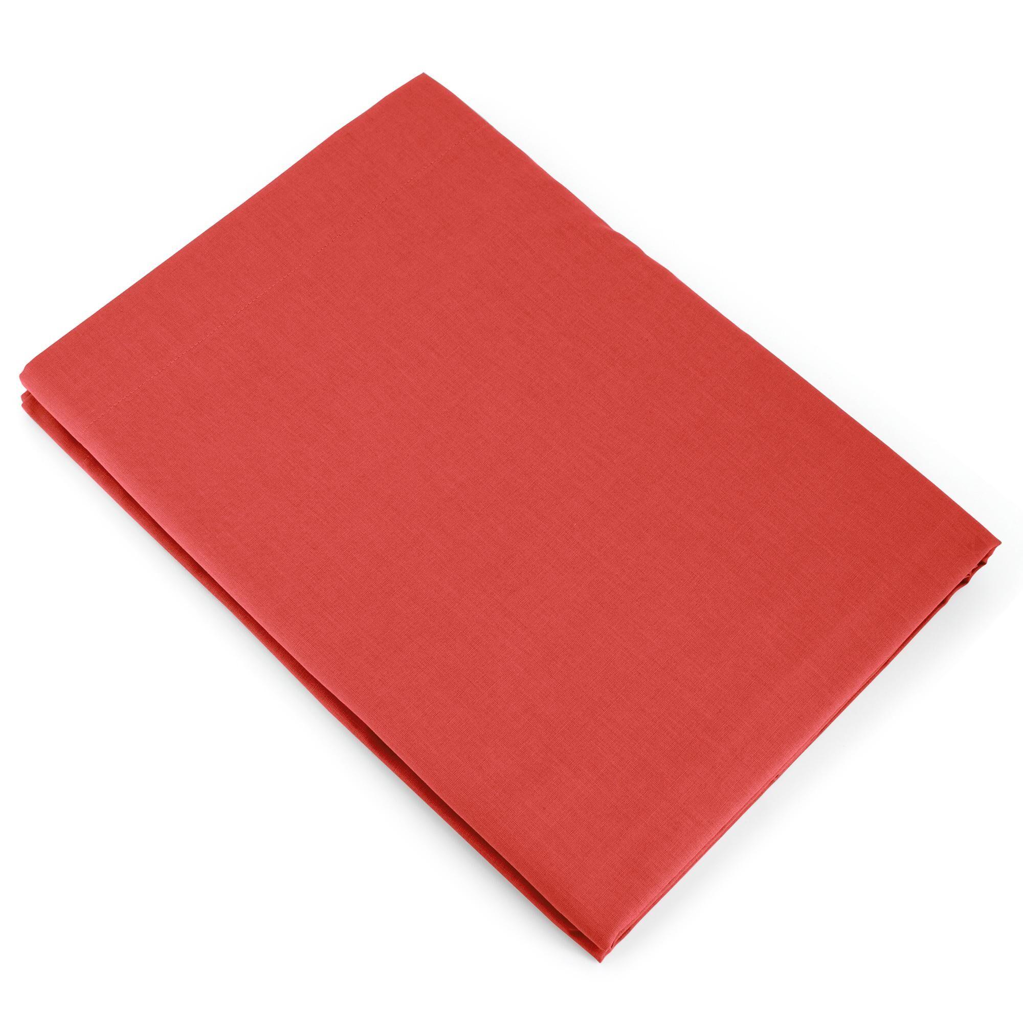 Linnea Drap plat uni 240x310 cm 100% coton ALTO orange Baie de Goji