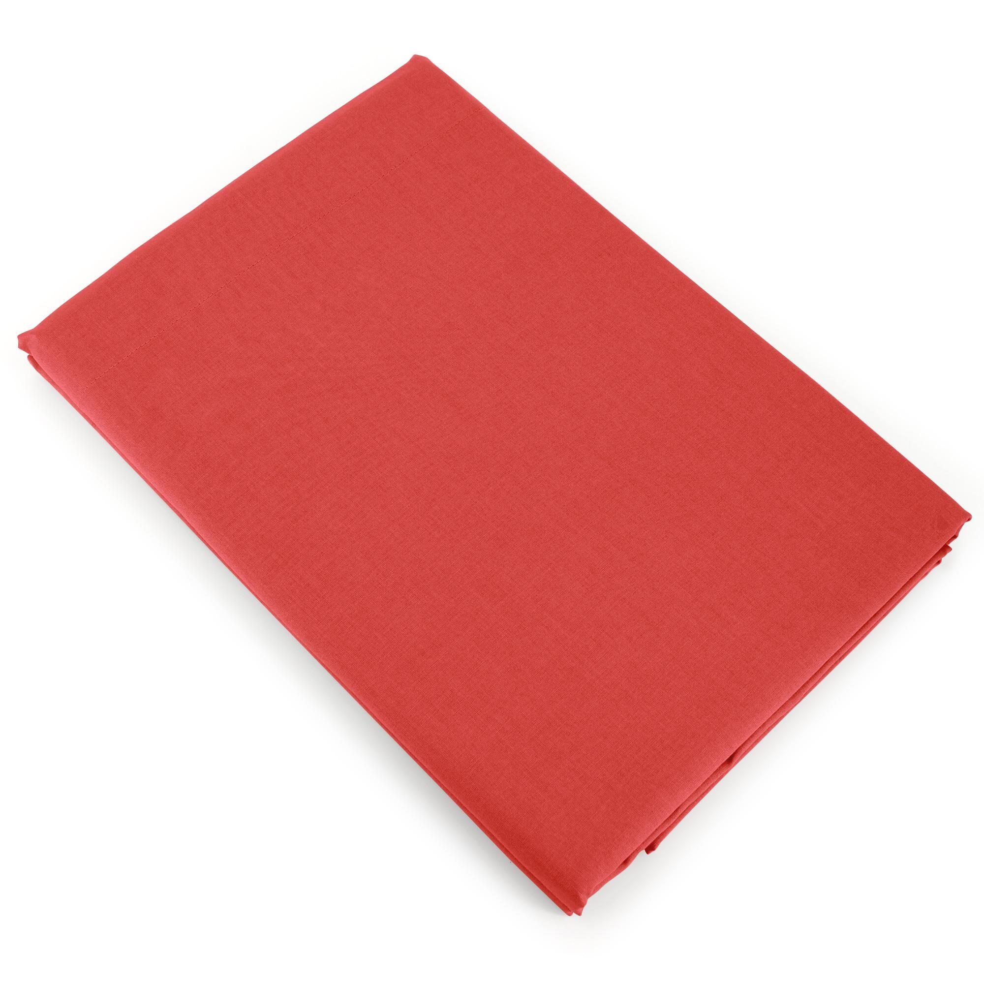 Linnea Drap plat uni 270x310 cm 100% coton ALTO orange Baie de Goji