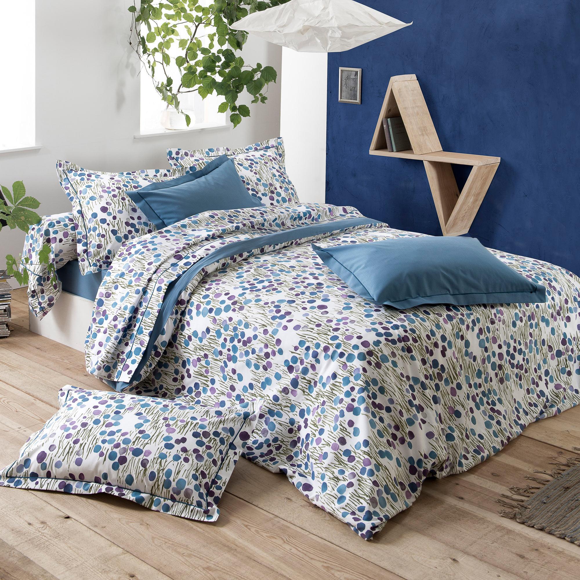 Linnea Housse de couette 140x200 cm 100% coton BAGATELLE bleu Encre