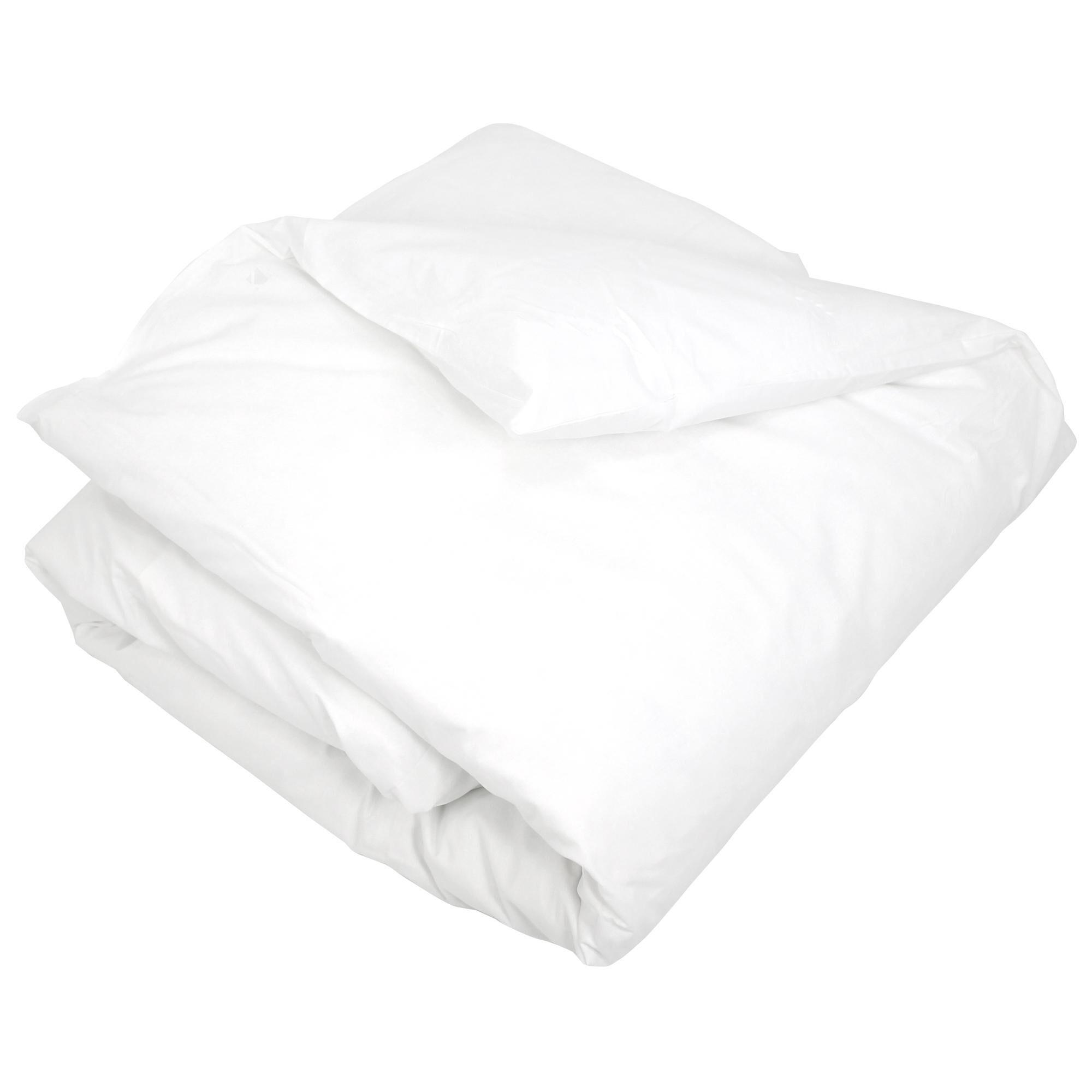 Linnea Housse de couette uni 140x200 cm 100% coton ALTO Blanc