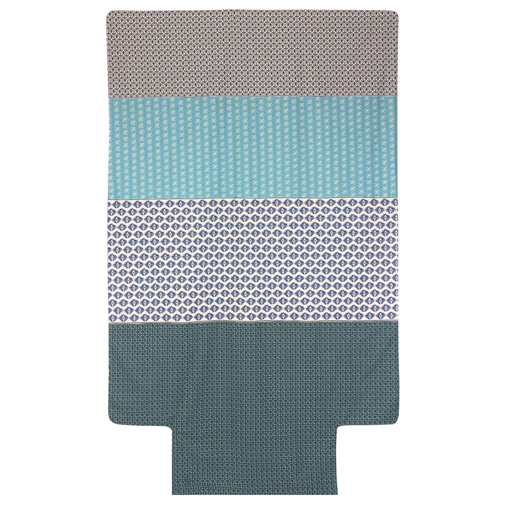 Linnea Housse de couette 140x200 cm 100% coton RIO JADE bleu