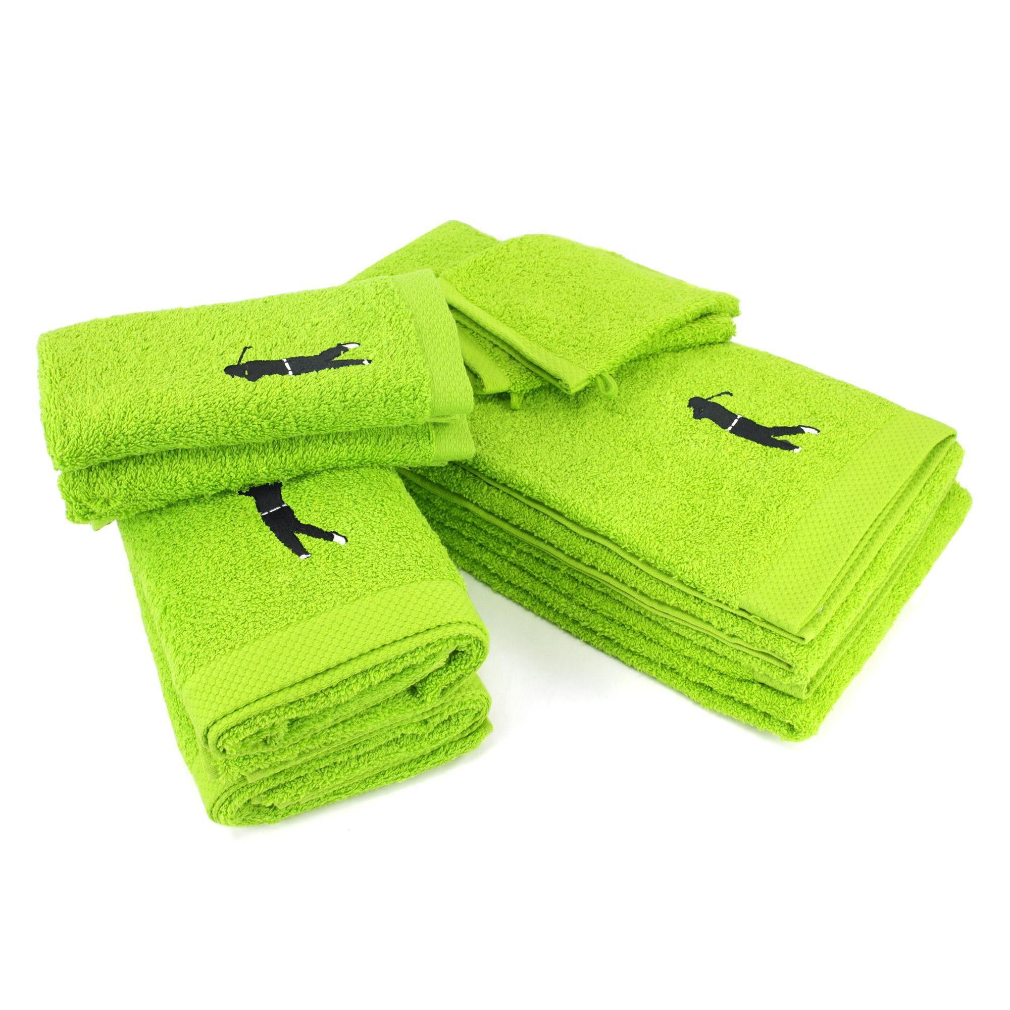 Linnea Parure de bain 8 pièces 100% coton 550 g/m2 PURE GOLF Vert Pistache