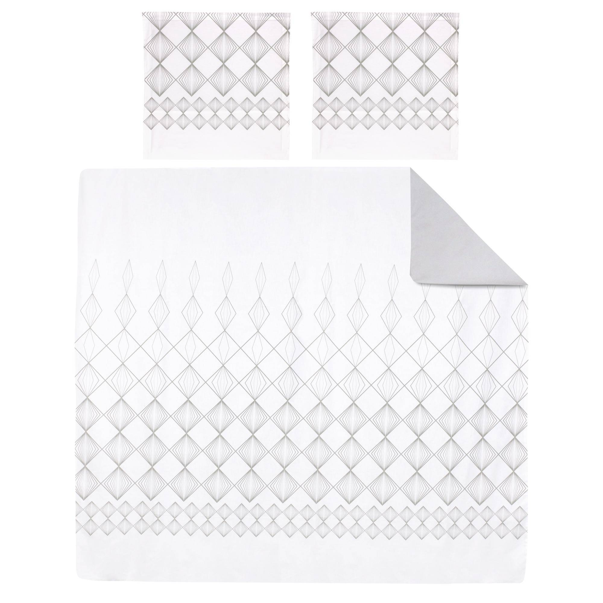 Linnea Parure de lit 260x240 cm 100% coton FOREVER 3 pièces