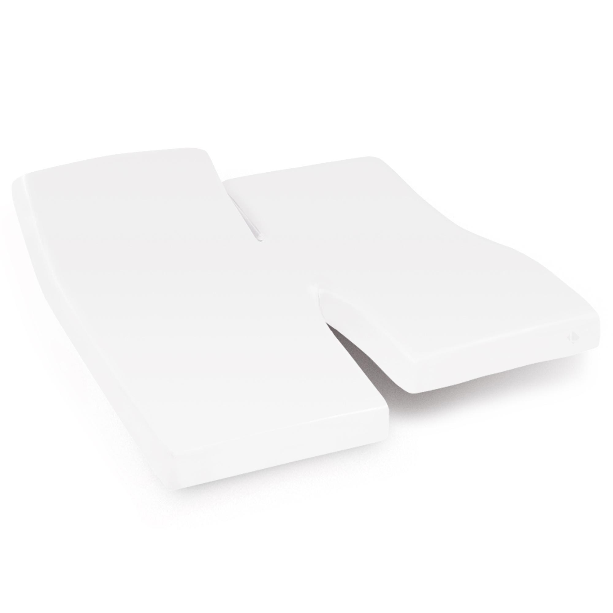 Linnea Protège matelas imperméable 2x80x200 cm lit articulé TPR bonnet 40cm ARNON molleton 100% coton contrecollé polyuréthane