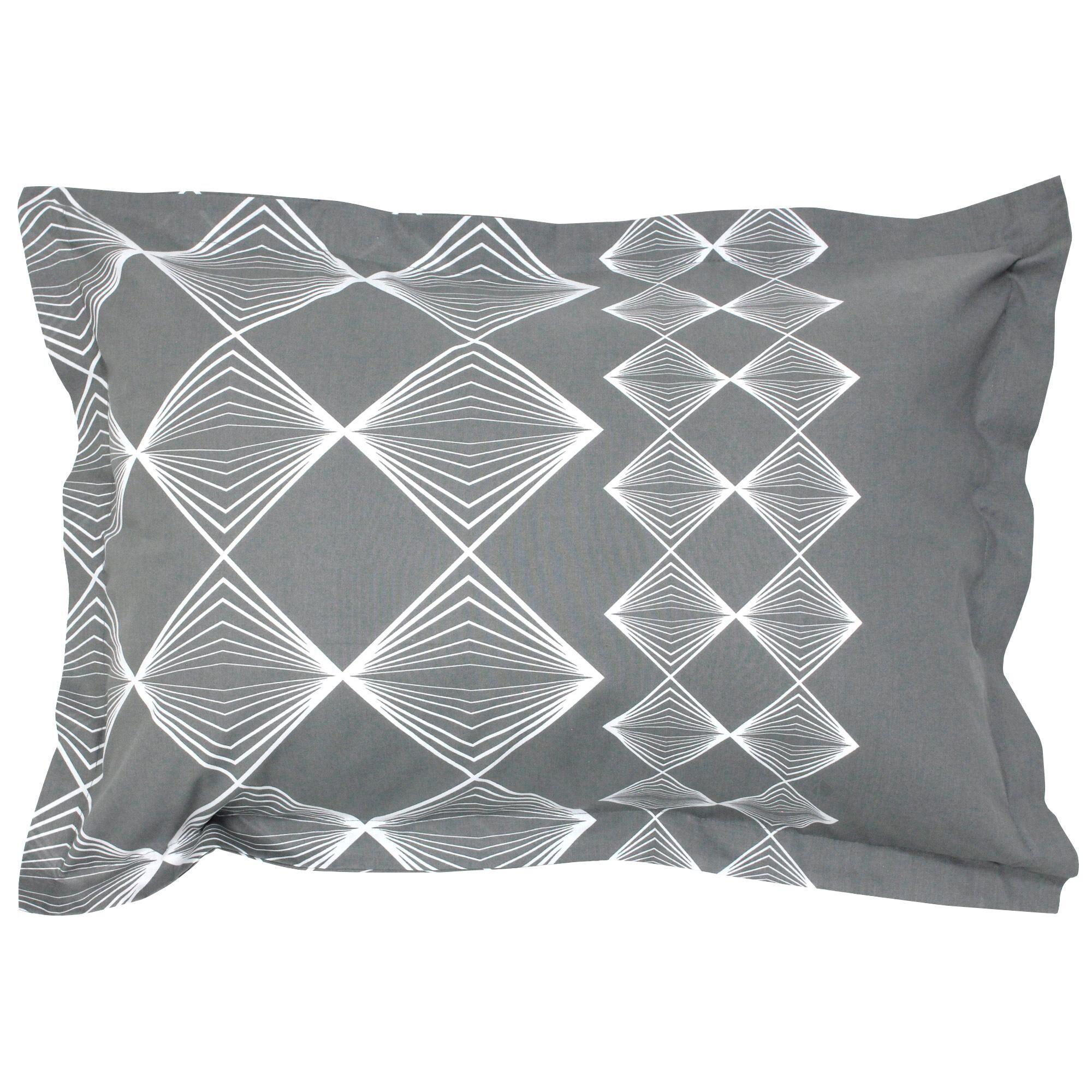 Linnea Taie d'oreiller 70x50 cm 100% coton FOREVER GRIS gris foncé