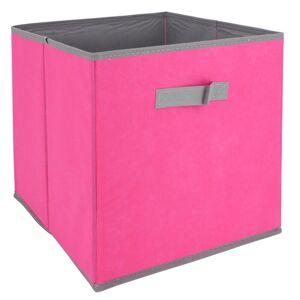 Linnea Cube de rangement cartonnée 27L rose - Publicité