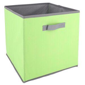 Linnea Cube de rangement cartonnée 27L vert - Publicité