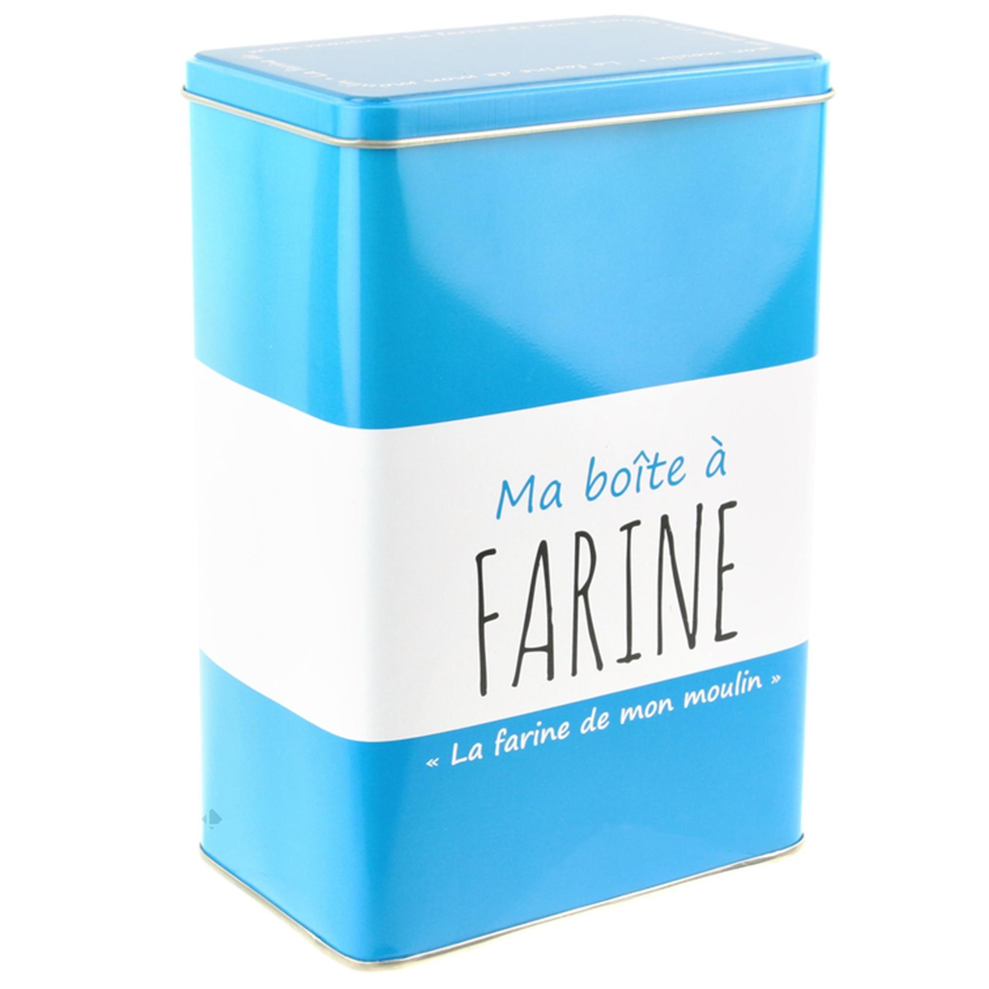 Linnea Boîte métal MA BOITE A Farine turquoise