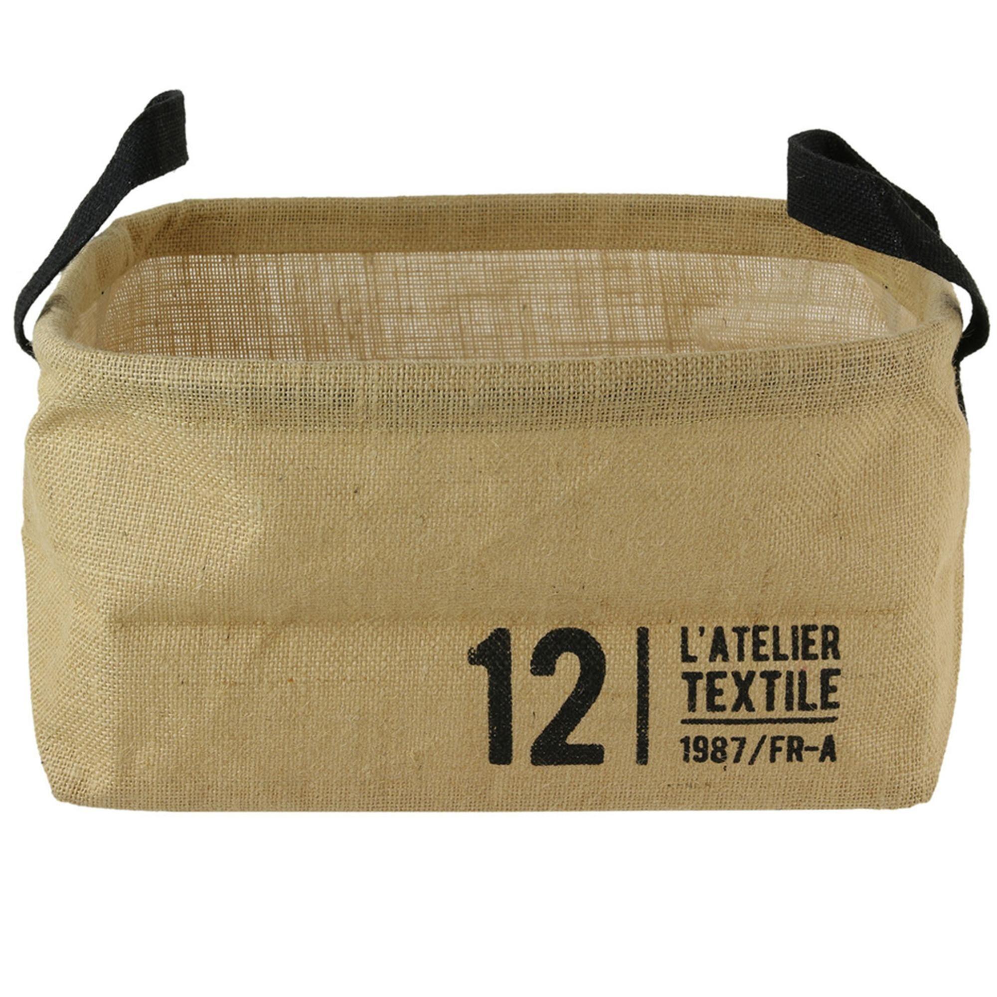 Linnea Panier de rangement 13L en jute beige / 12 L'ATELIER TEXTILE