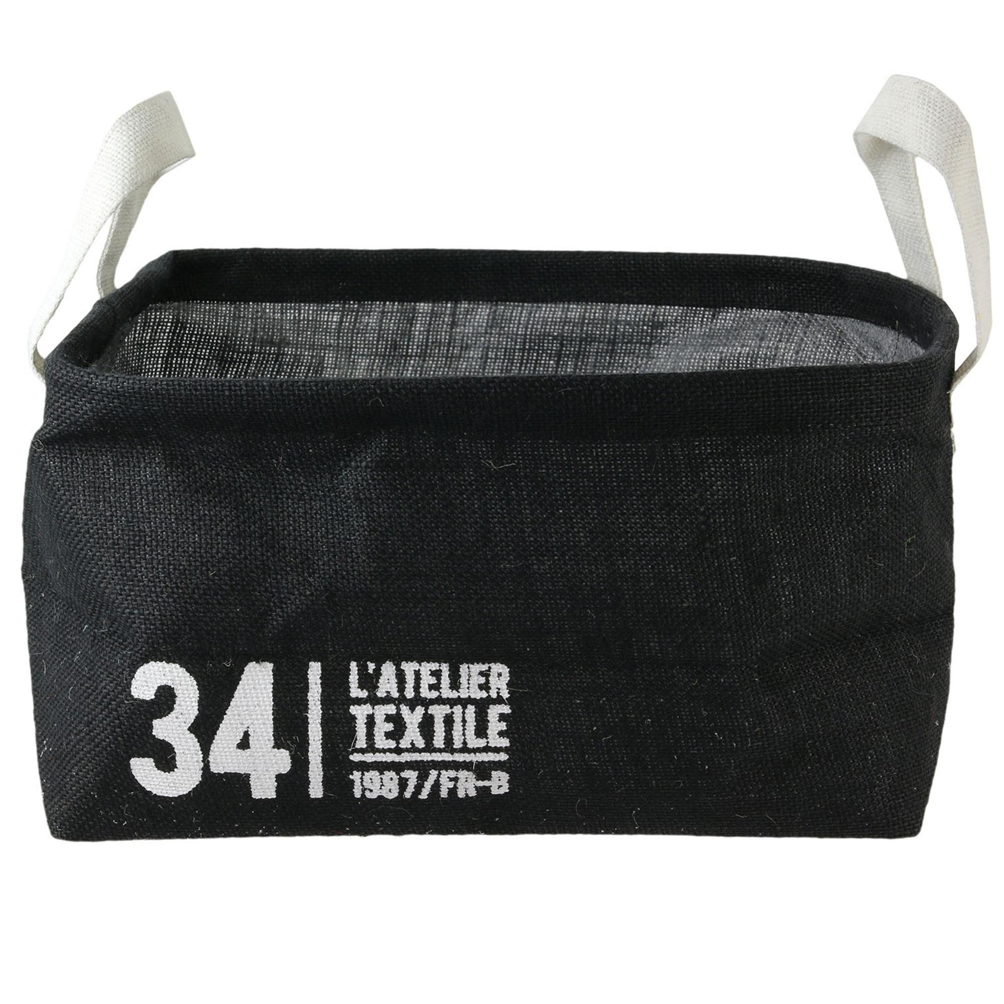Linnea Panier de rangement 13L en jute noir / 34 L'ATELIER TEXTILE