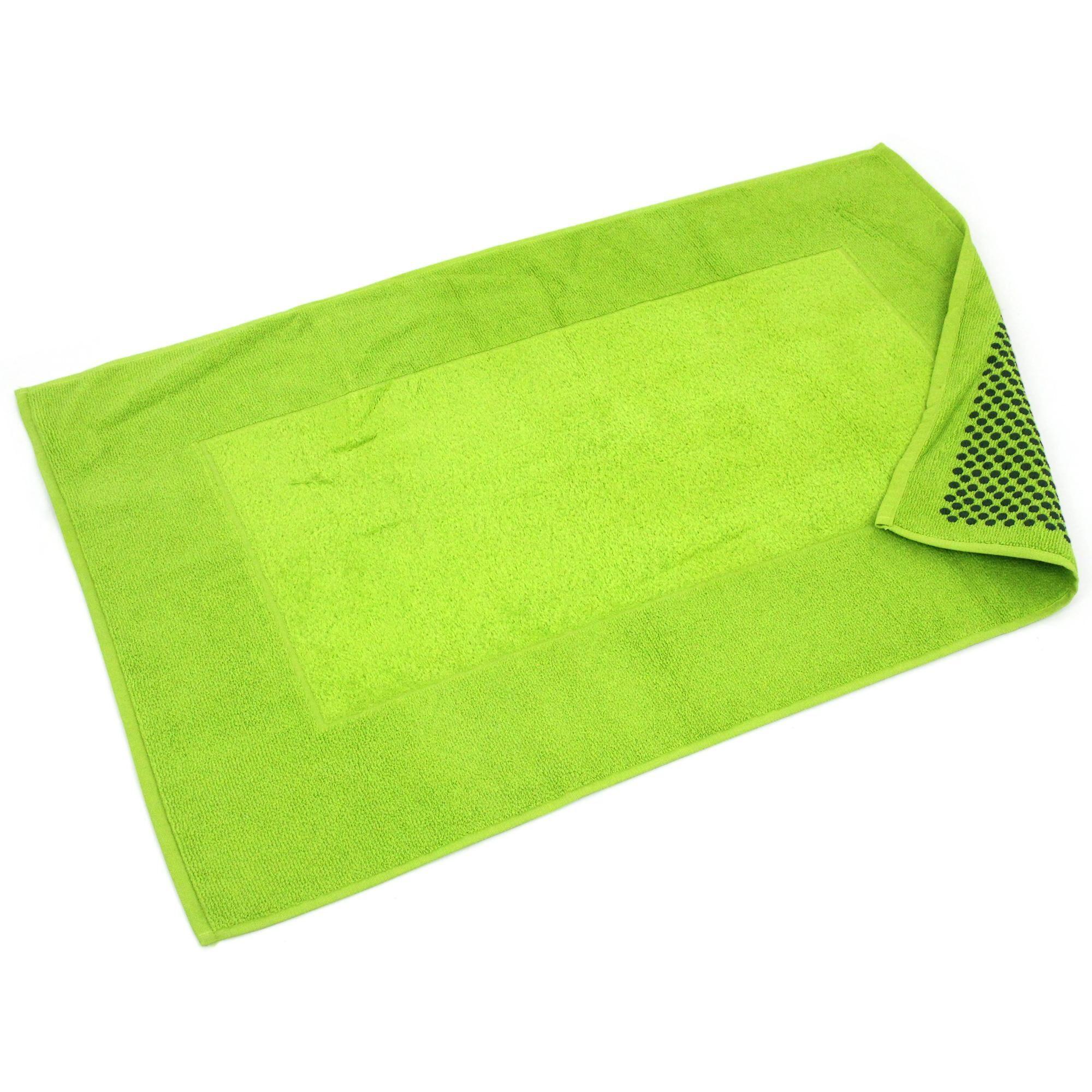 Linnea Tapis de bain antidérapant 60x90 cm velours PRESTIGE vert Pistache