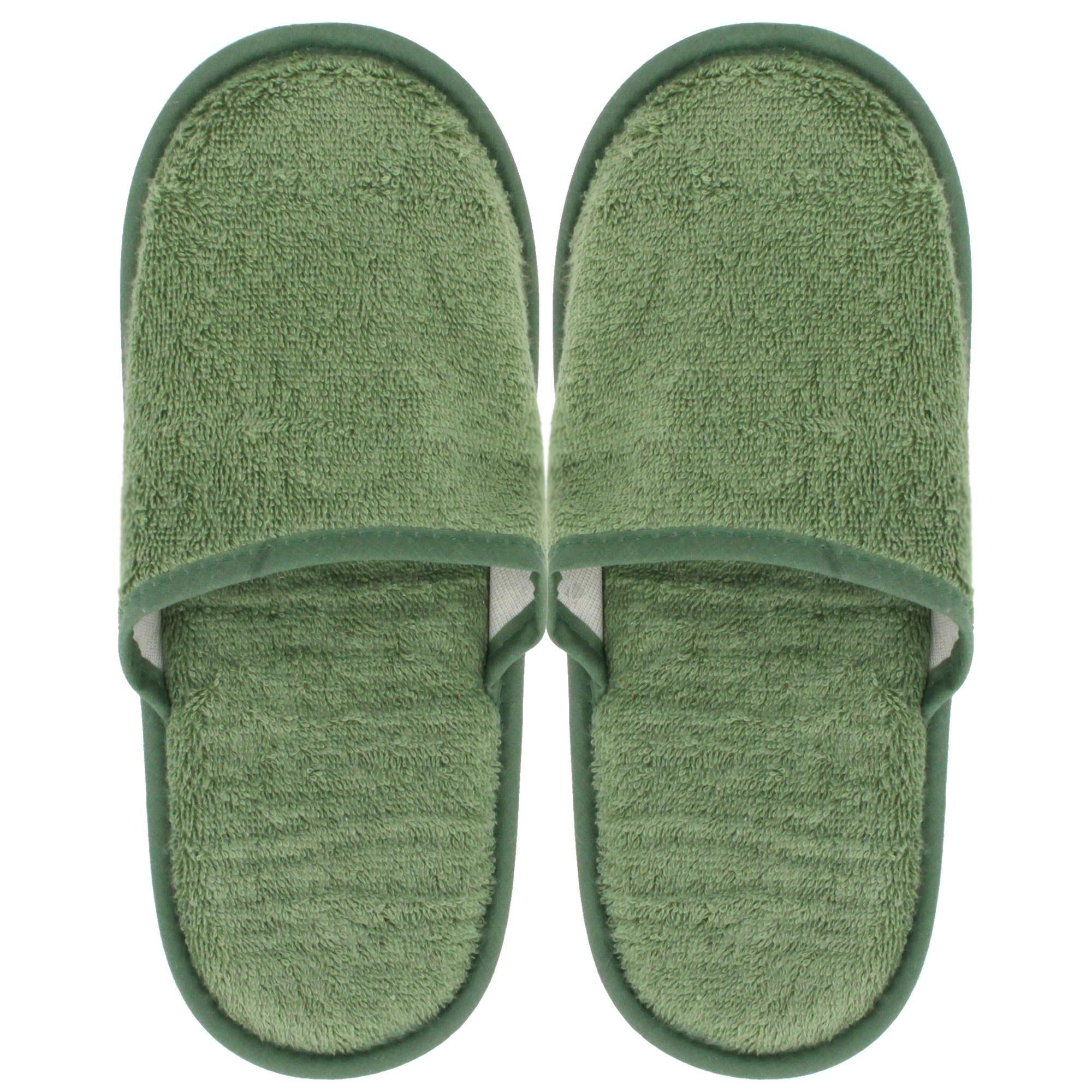 Linnea Chaussons de bain PURE Vert Amande taille Large L du 41 au 43