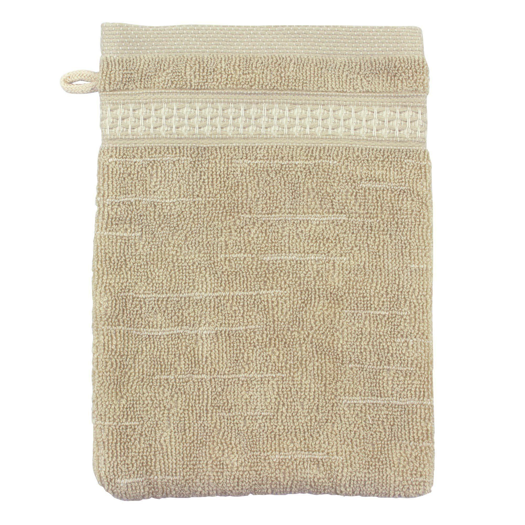 Linnea Gant de toilette 16x21 cm FICUS Vert 500 g/m2 pur coton bio