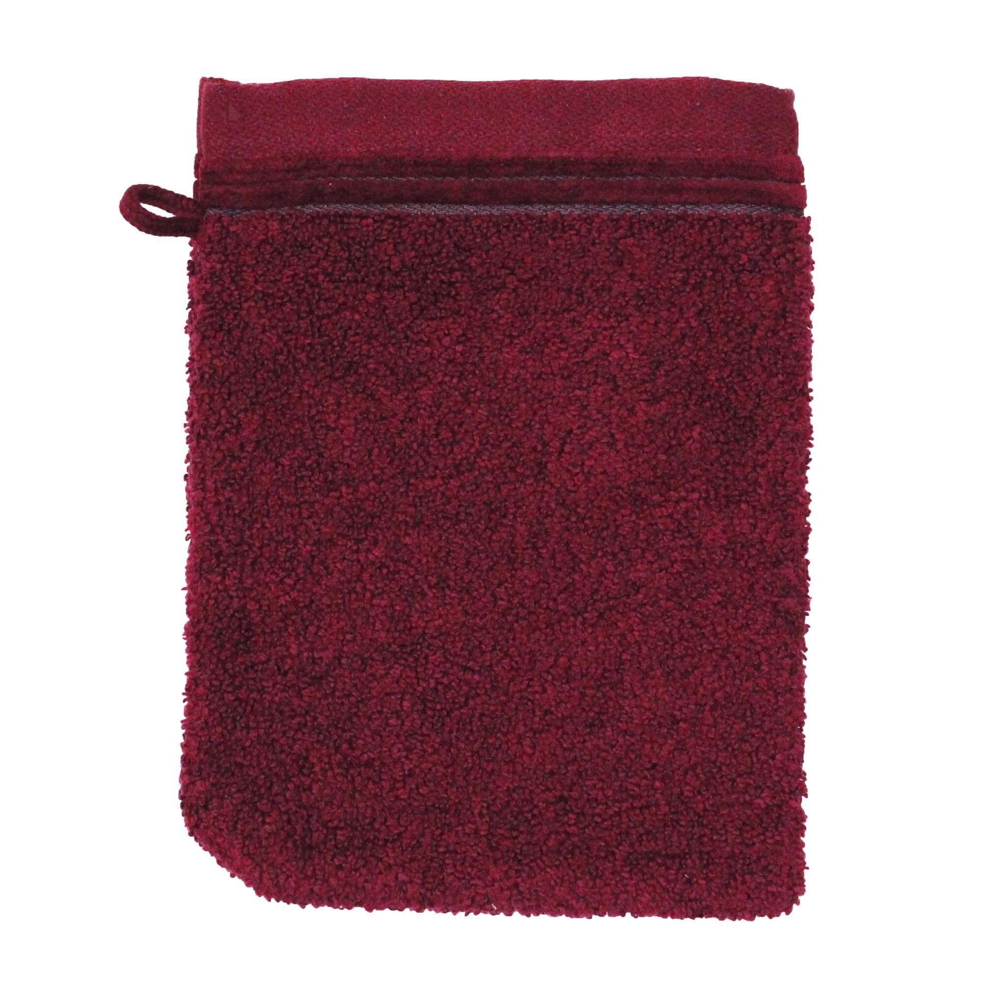 Linnea Gant de toilette 16x21 cm JULIET Rouge bordeaux 520 g/m2