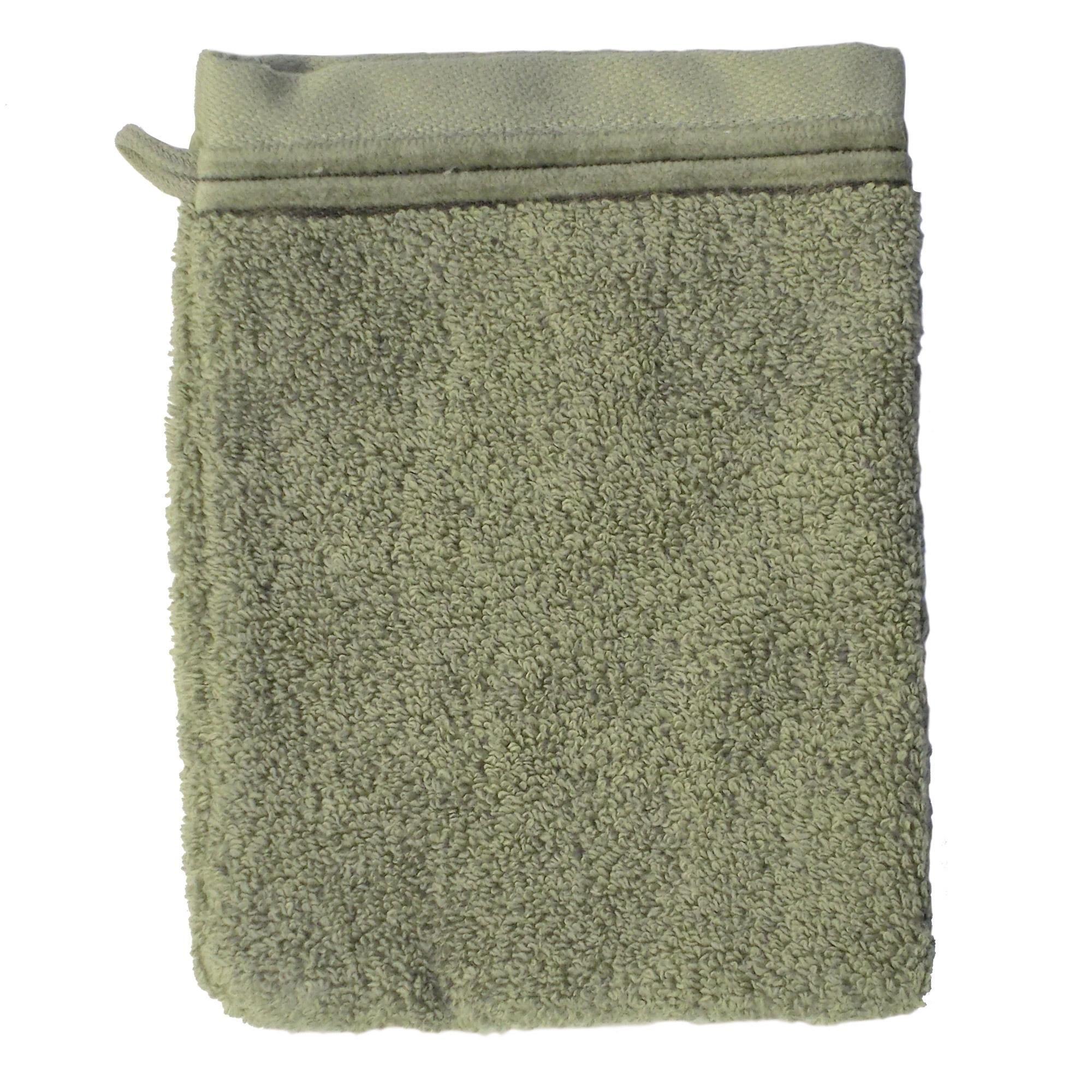 Linnea Gant de toilette 16x21 cm JULIET Vert 520 g/m2