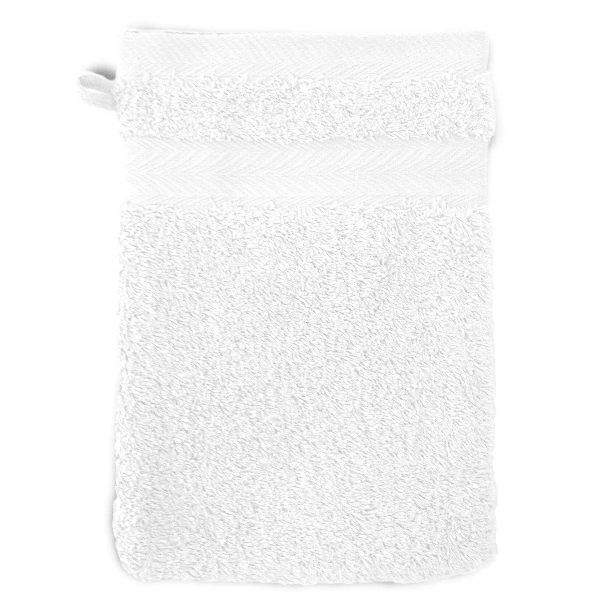 Linnea Gant de toilette 16x21 cm ROYAL CRESENT Blanc 650 g/m2