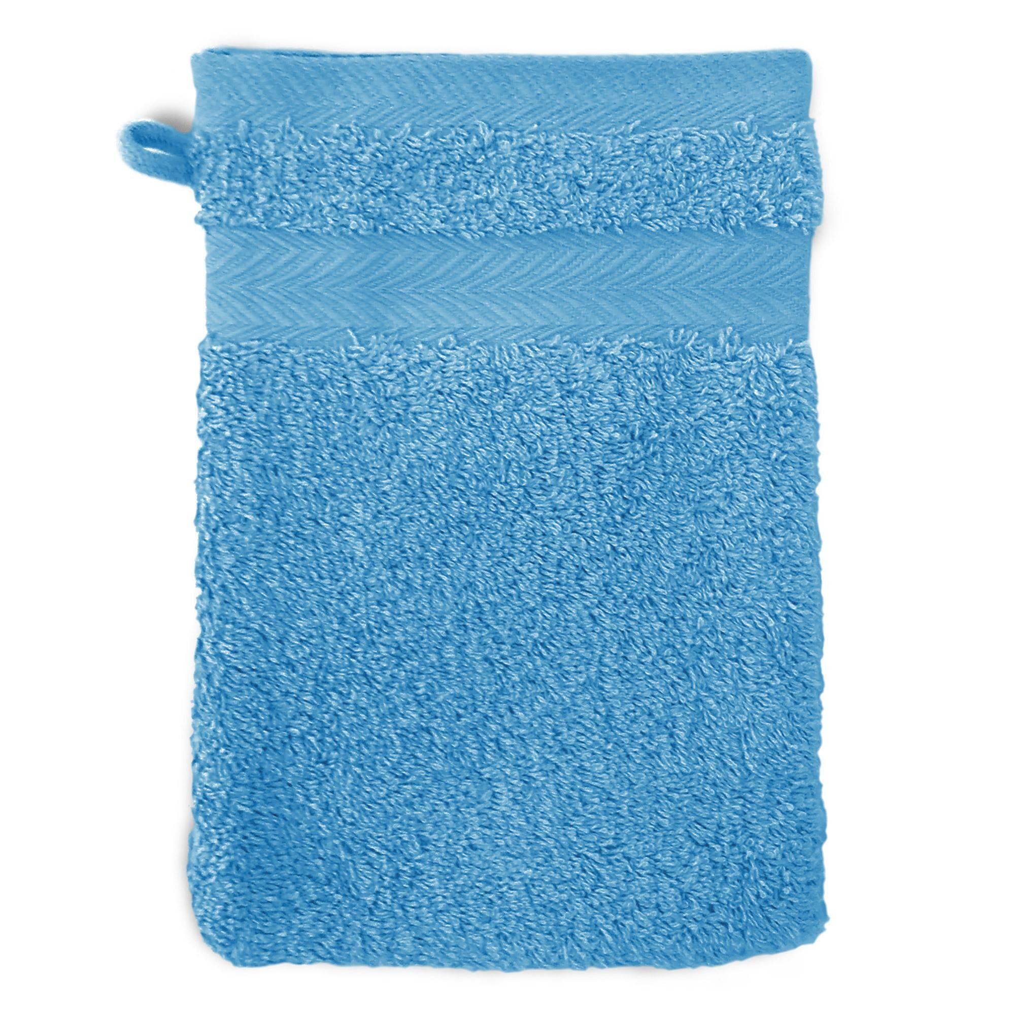 Linnea Gant de toilette 16x21 cm ROYAL CRESENT Bleu Ciel 650 g/m2