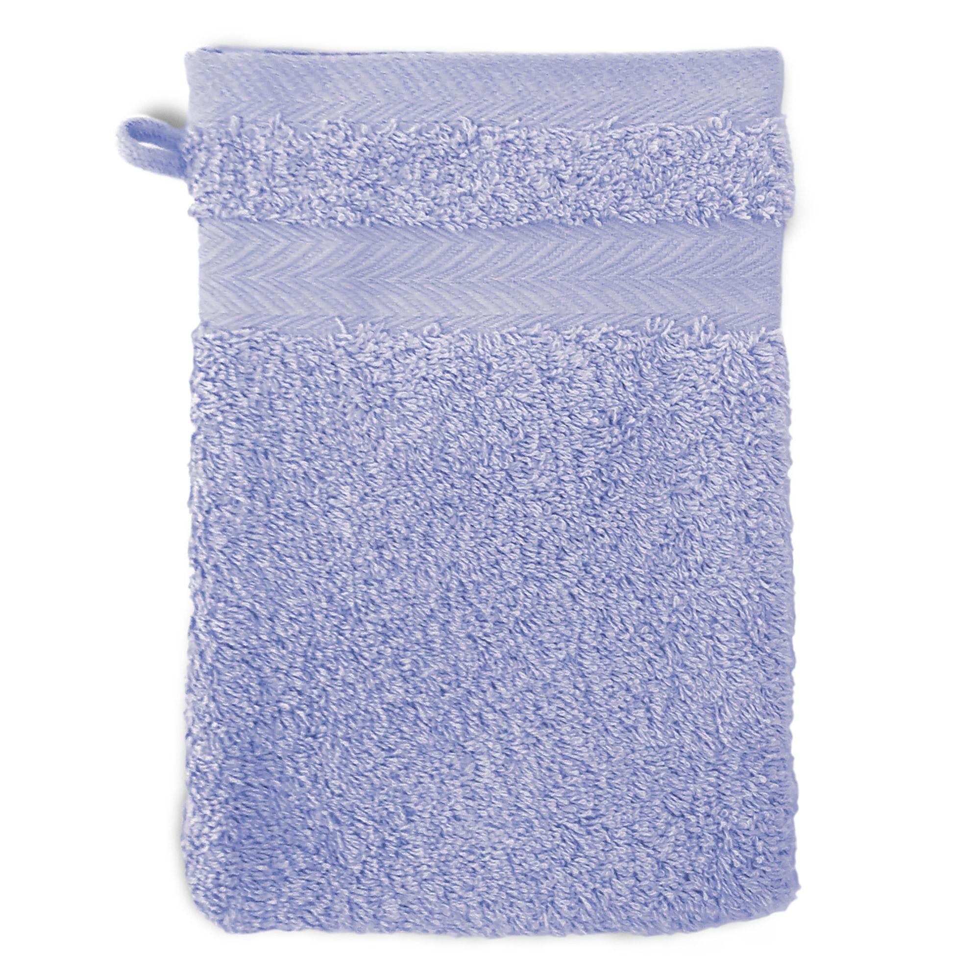 Linnea Gant de toilette 16x21 cm ROYAL CRESENT Bleu Lavande 650 g/m2