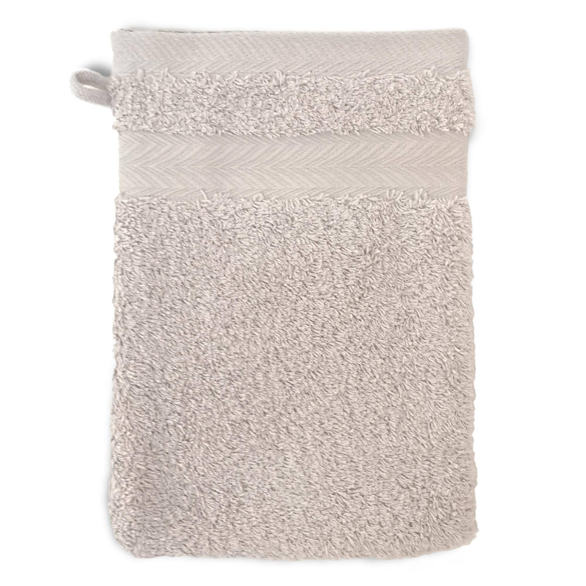 Linnea Gant de toilette 16x21 cm ROYAL CRESENT Gris Craie 650 g/m2