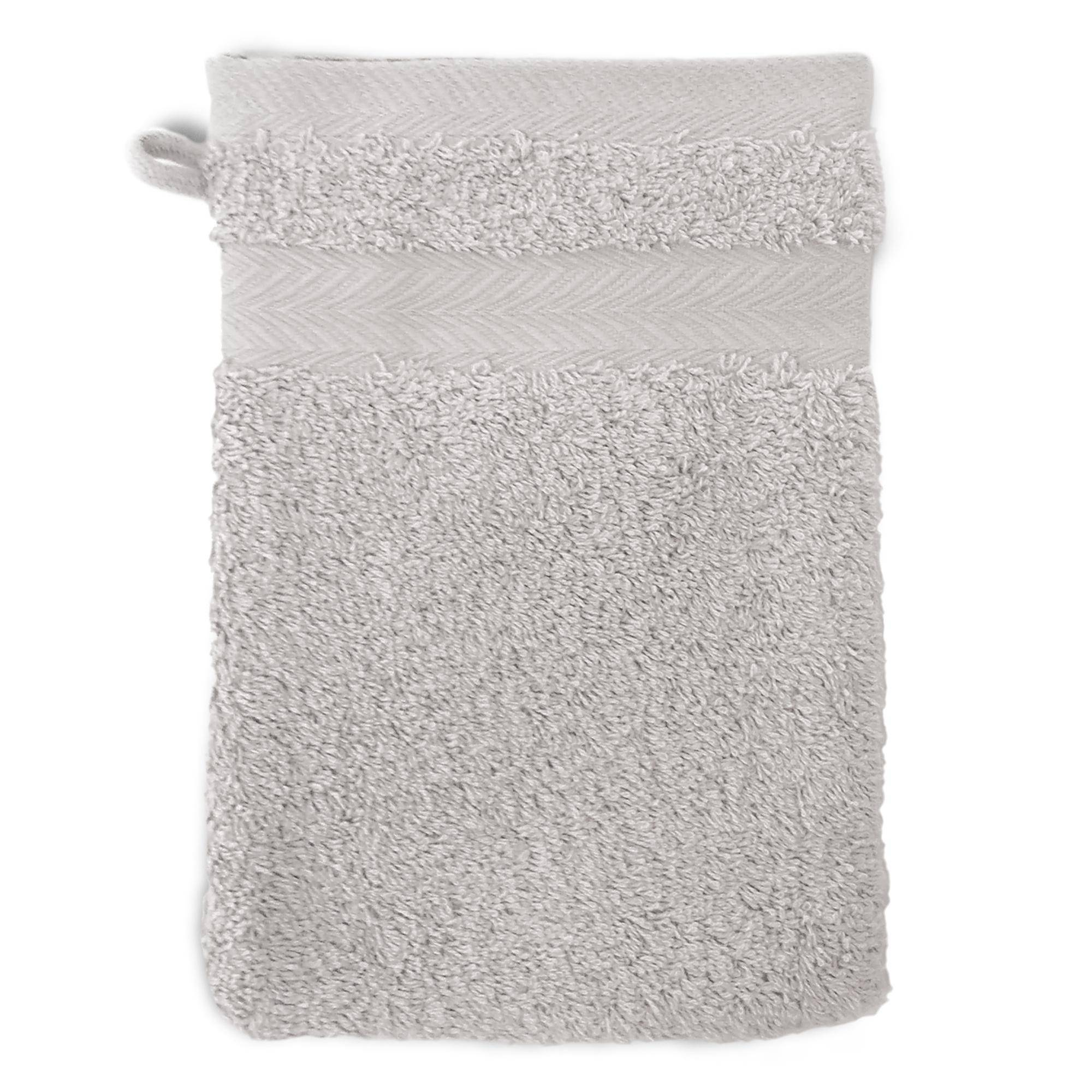 Linnea Gant de toilette 16x21 cm ROYAL CRESENT Gris Platine 650 g/m2